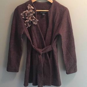 Cynthia Rowley 100% Wool Belted Sweater S
